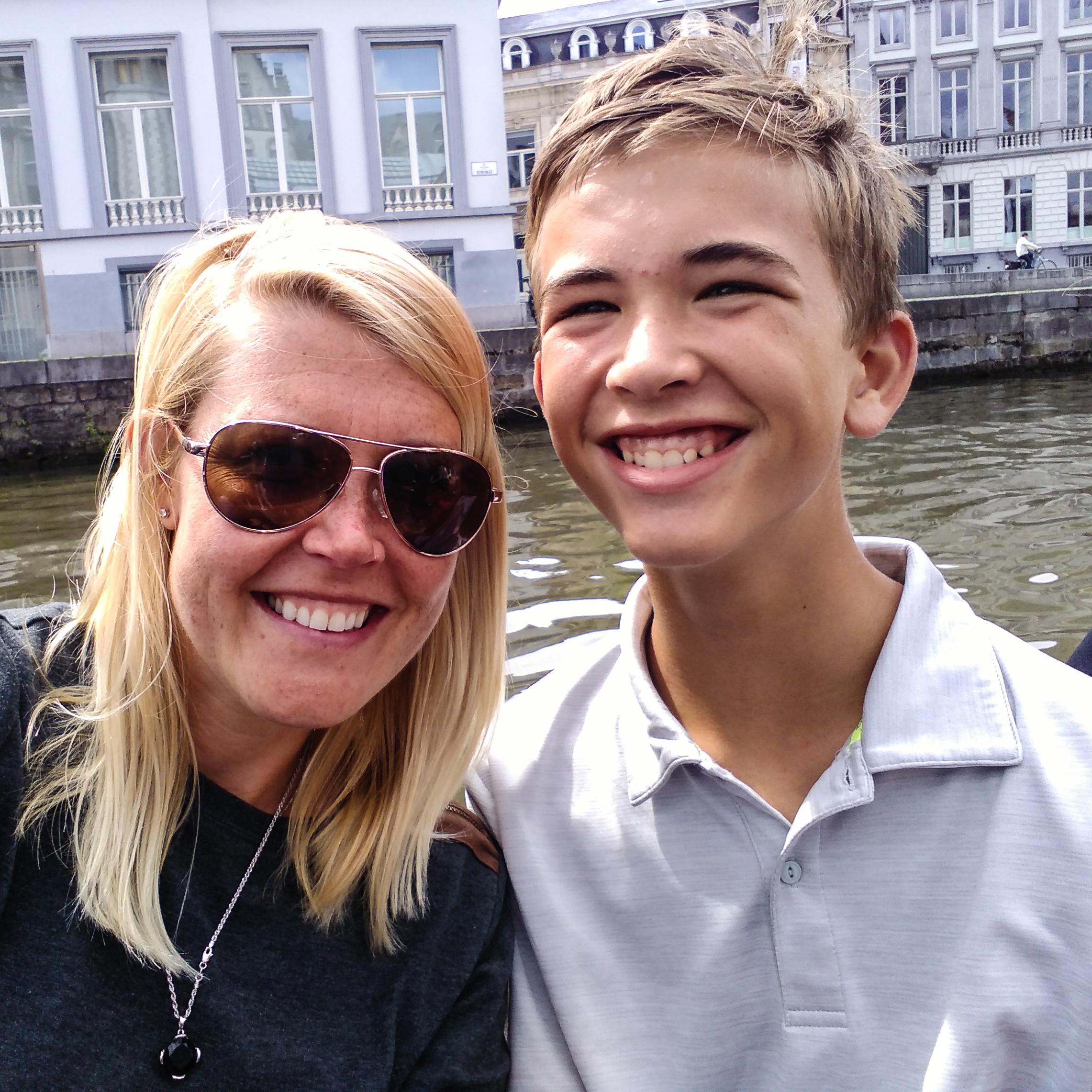 family  , travel, travel adventures, Europe, euro vacation, nephew, aunt, Gent, Belgium