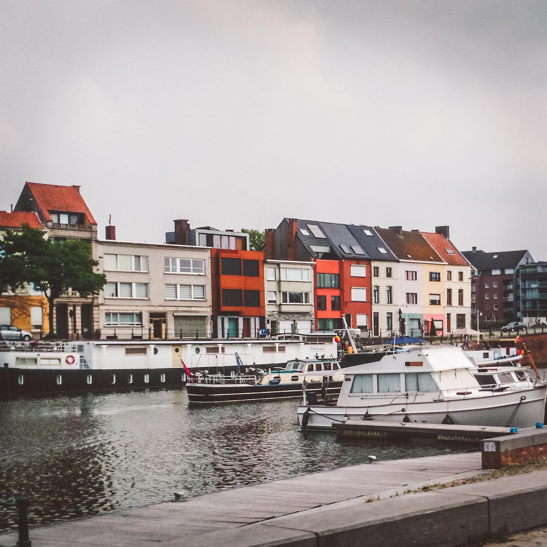 expat,Gent, Belgium, boats, harbour, haven, water