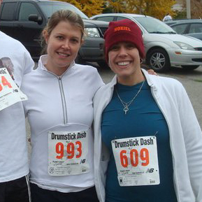 Got to love waking up at 6am on Thanksgiving to go run. My sister was always game to go too.