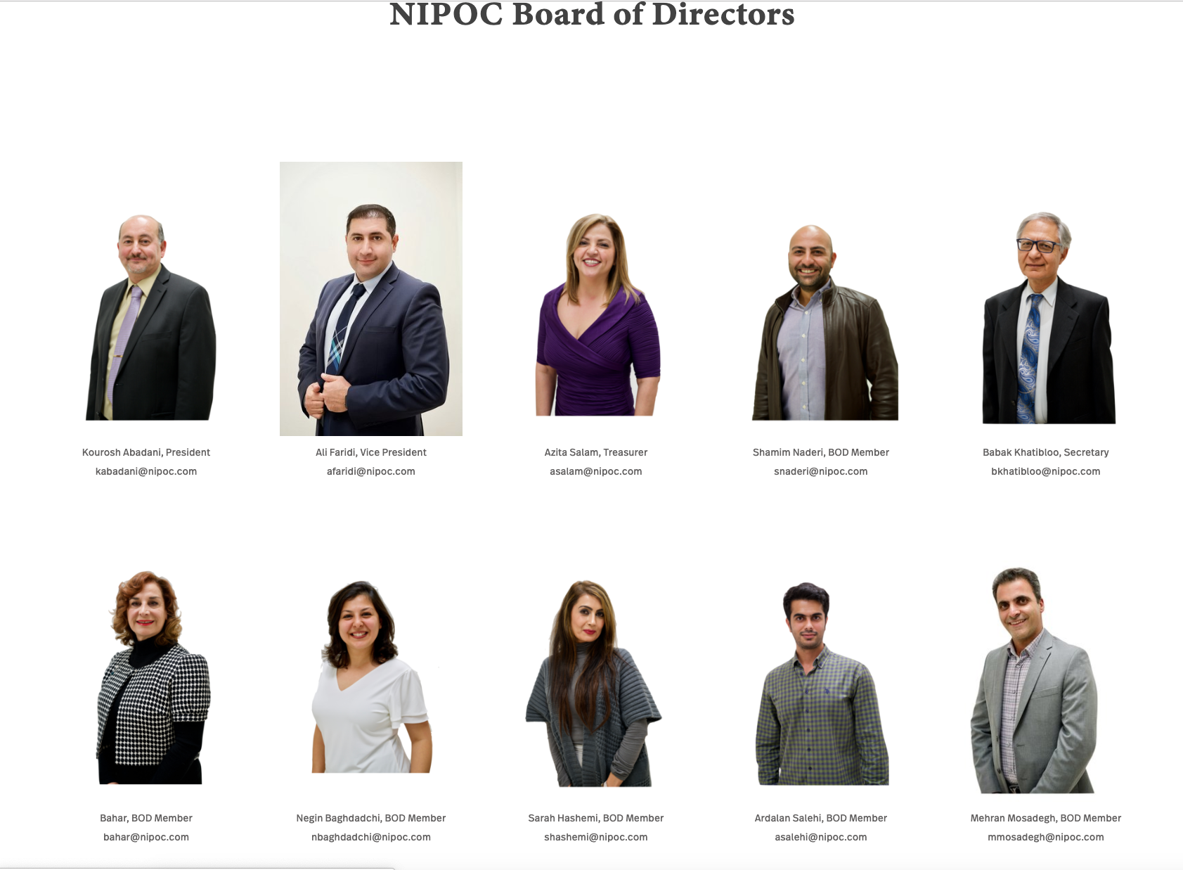 www.nipoc.org - largest Network of Iranian American Professionals in Orange County