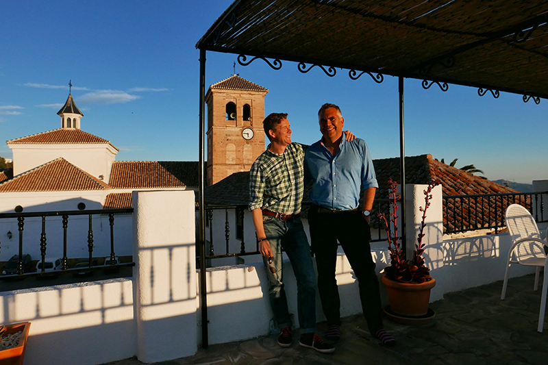 The roof terrace of Los Arcos B&B, Valor.