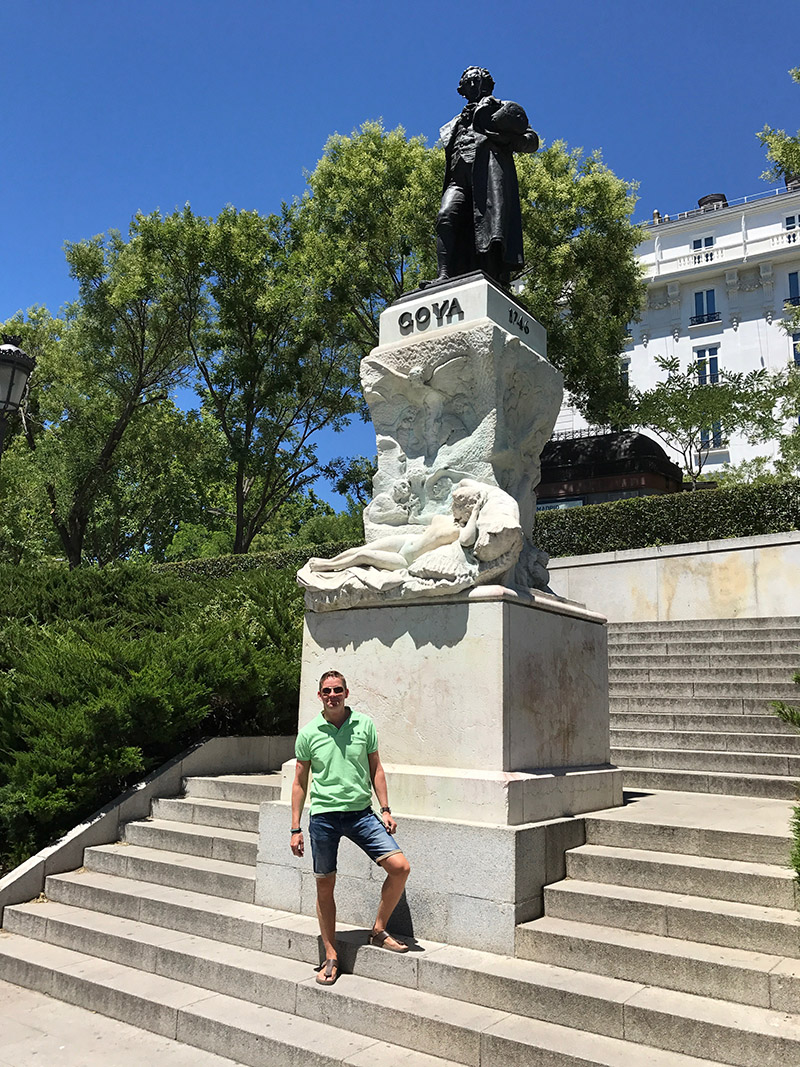 Birthday boy with Goya