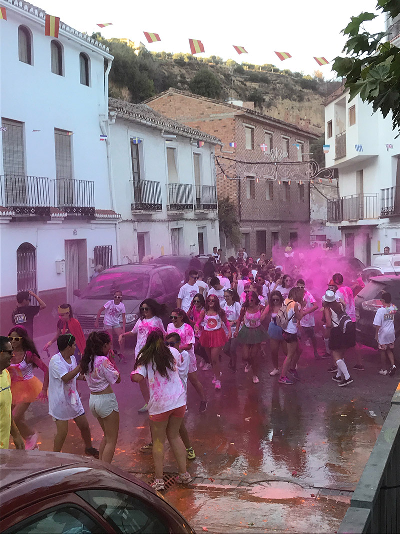 The colour run, albuñuelas. mid summer madness...