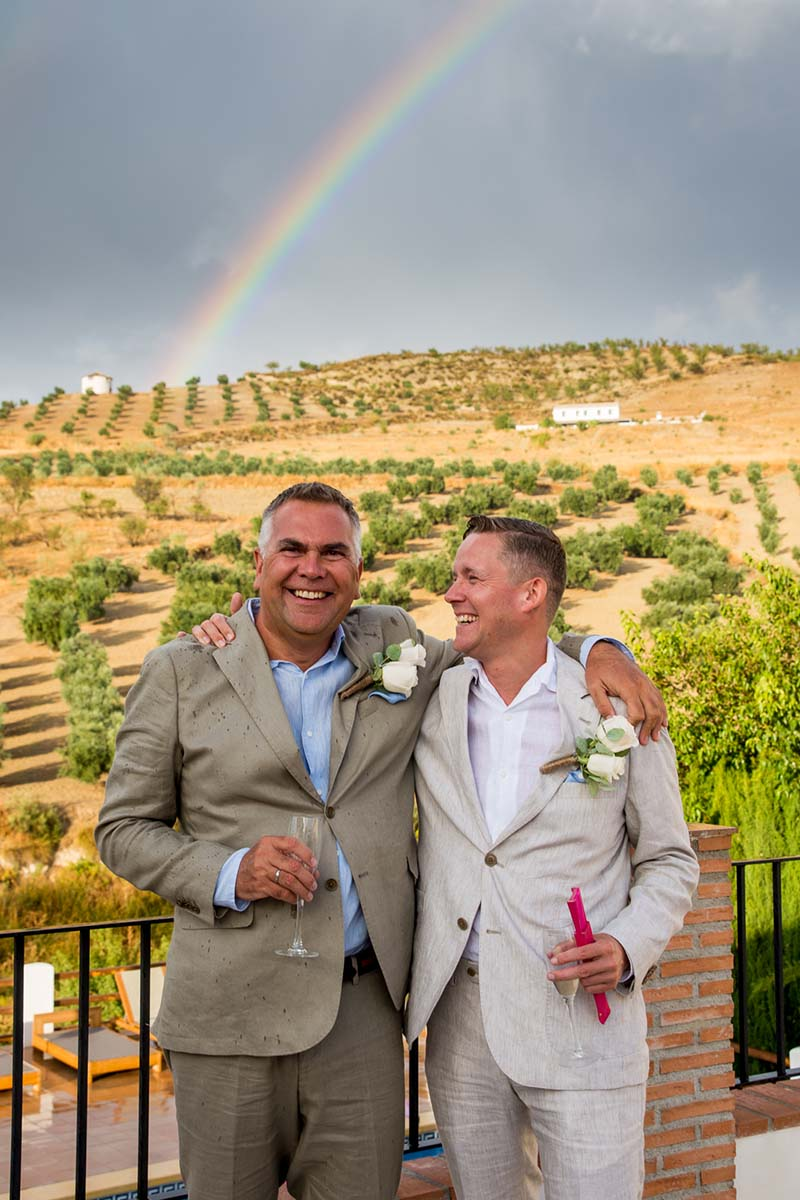 Ian and Andrew under the rainbow 1 ©️ Sam Milling