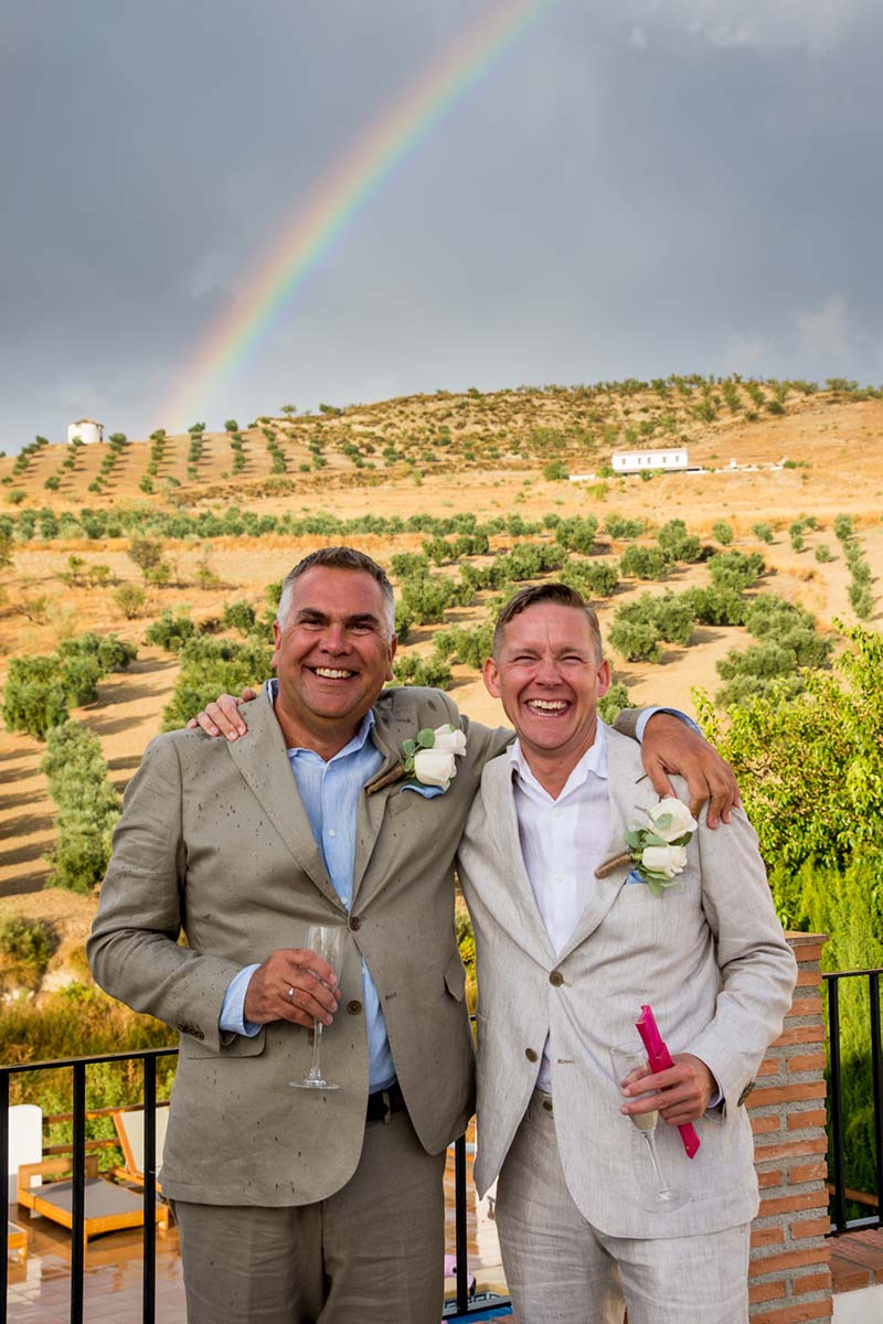 Ian and Andrew under the rainbow 2 ©️ Sam Milling