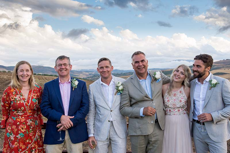 Steph, Angus, Andrew, Ian, lucie, James.   Photo by Sam milling