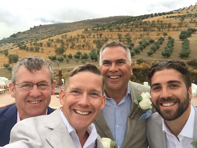 pre wedding selfie with the Best Men   ©️ Andrew Watson