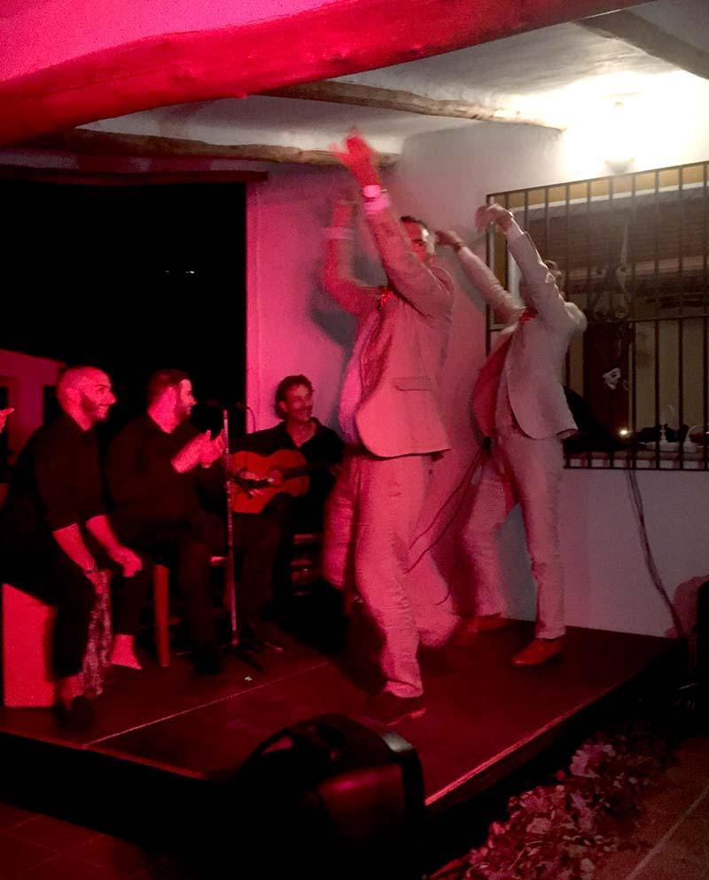 Ian and Andrew…flamenco dancing   ©️ Ant Cornish