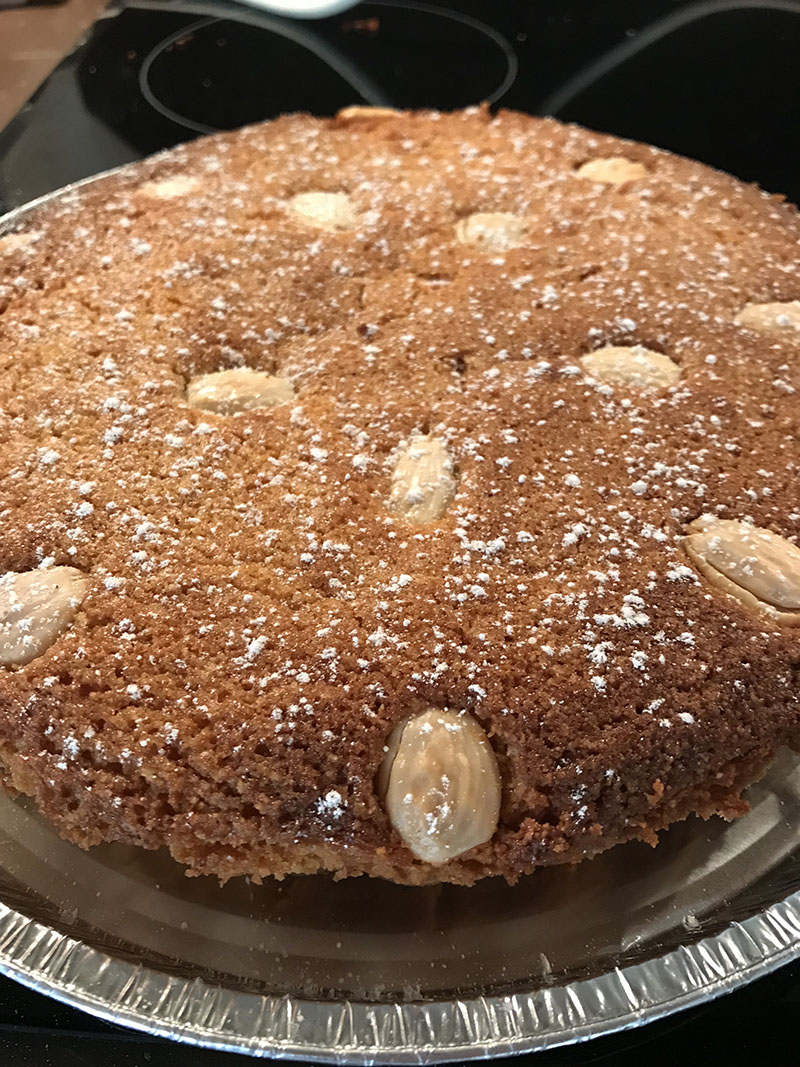 Fig Bakewell tart