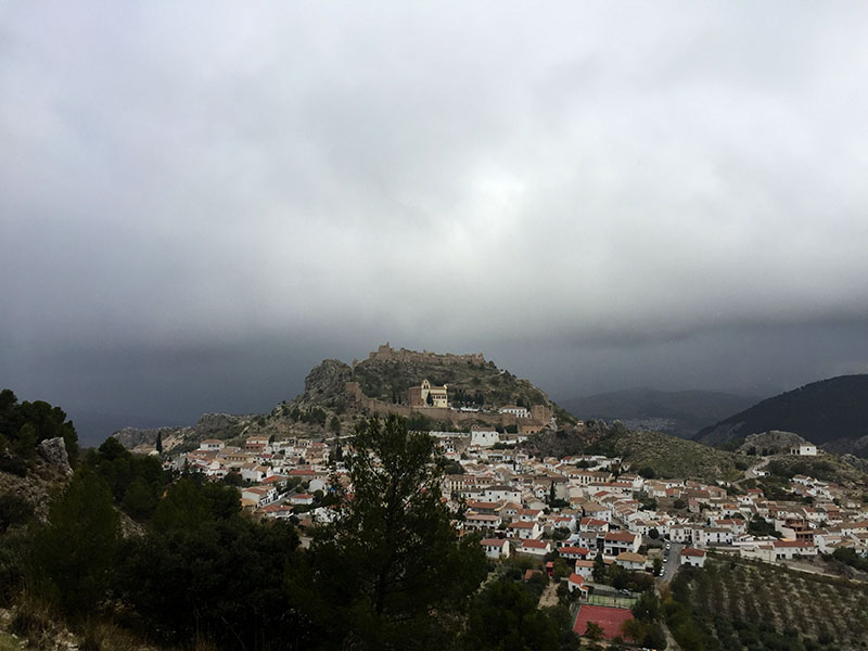 As the first snowfall approaches. Moclín: 28th October