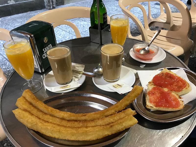 Casa Aranda breakfast
