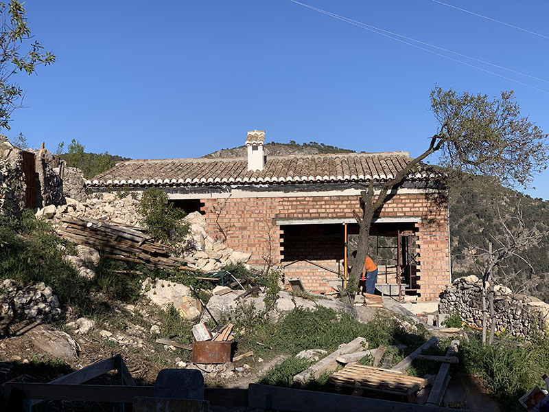 Sadly…the almond tree which we have fought to keep has to be cut down.