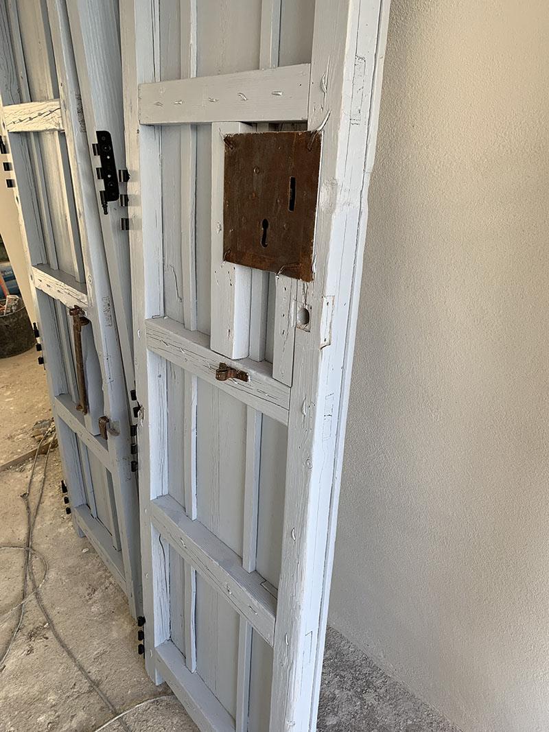 Our beautiful antique wooden doors…oops.
