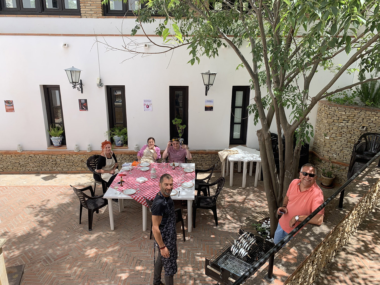 BBQ in the courtyard