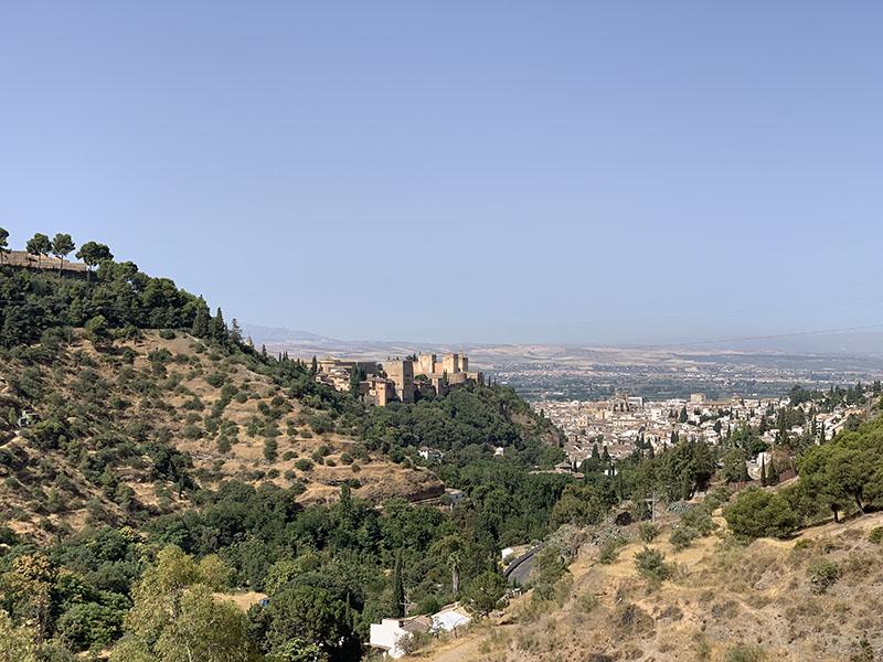 Looking towards Granada from Sacramonte
