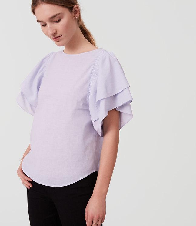 Ruffle Sleeve Top , $54