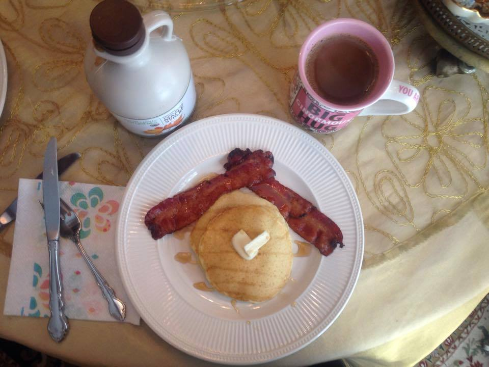"""My version of sometimes """"self-care"""": Pancakes."""