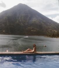 me + old volcano = classic Santiago.