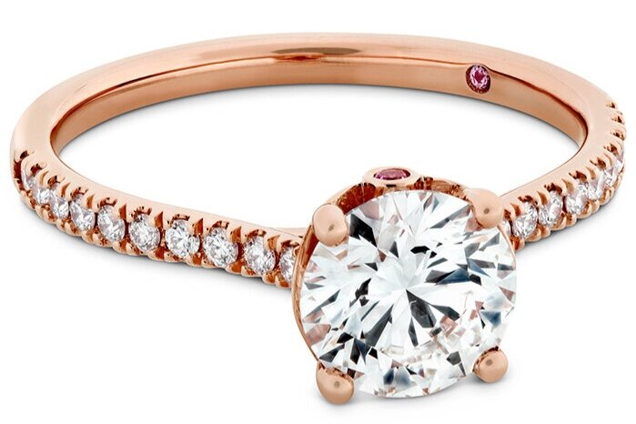 """Hayley Paige for Hearts On Fire """"Sloane Silhouette Engagement Ring (Diamond Band)"""""""