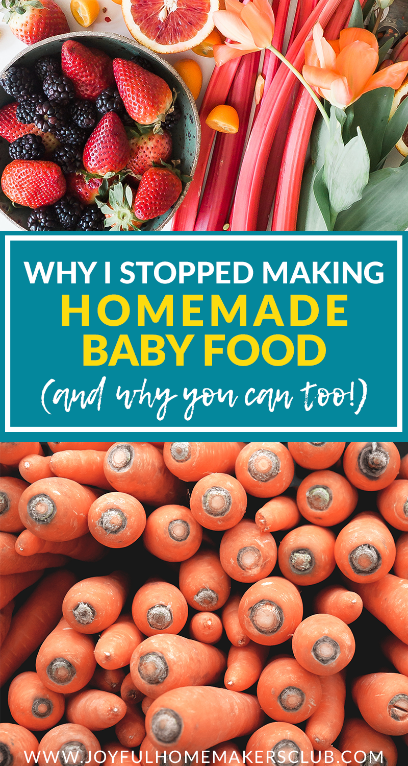 Don't feel pressured to make #homemade #babyfood if it's not working out for you. There are plenty of great options at the store to feed to your #baby