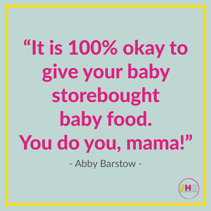 It's okay to NOT make #homemade #babyfood. You do what works for you!
