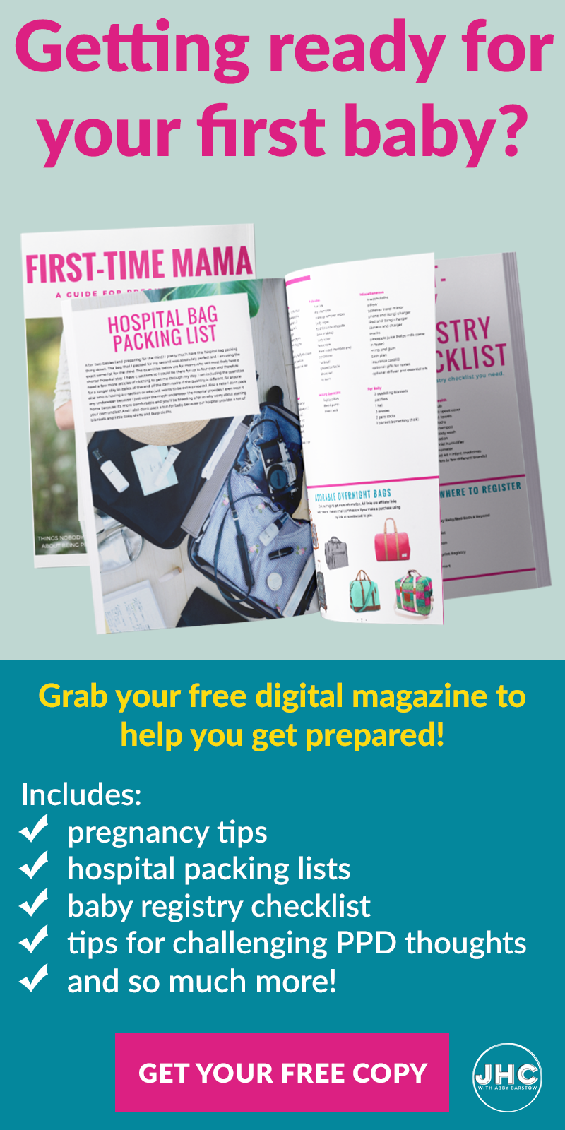 Getting ready for your #first #baby? Grab this free resource to help you get through your #pregnancy and prepare for baby!