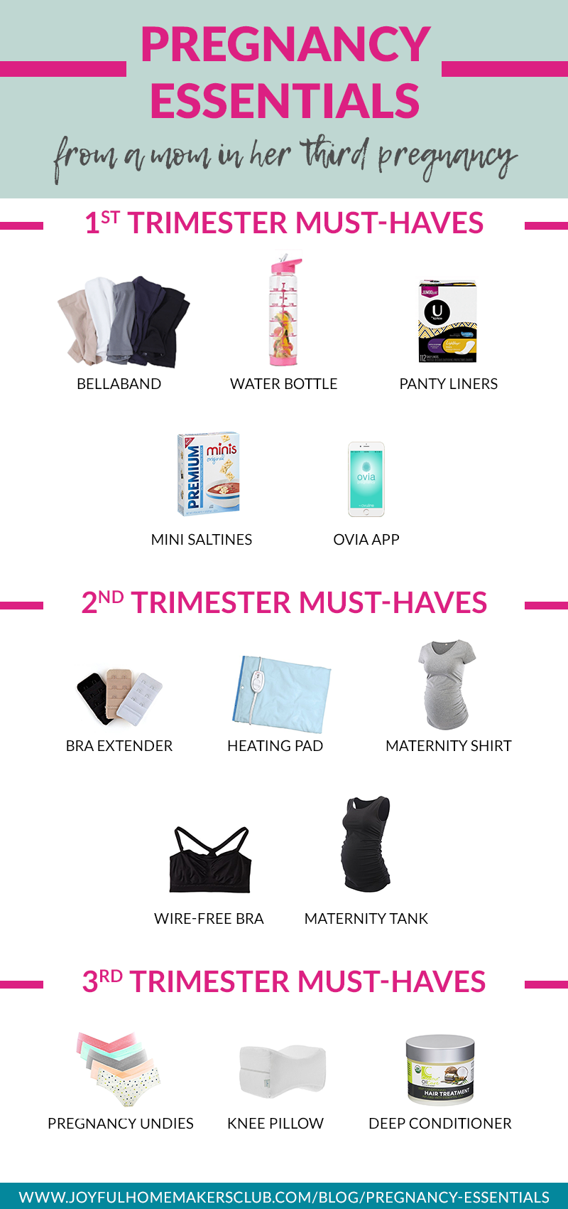 Everything you need for a comfortable and happy #pregnancy #pregnancyessentials #musthaves #checklist