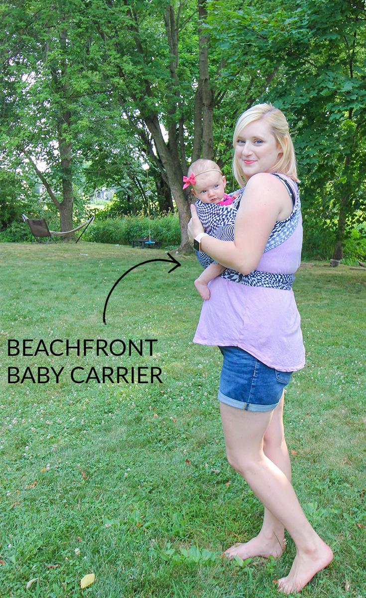 #sponsored meet the #beachfront #baby mesh water wrap #babycarrier