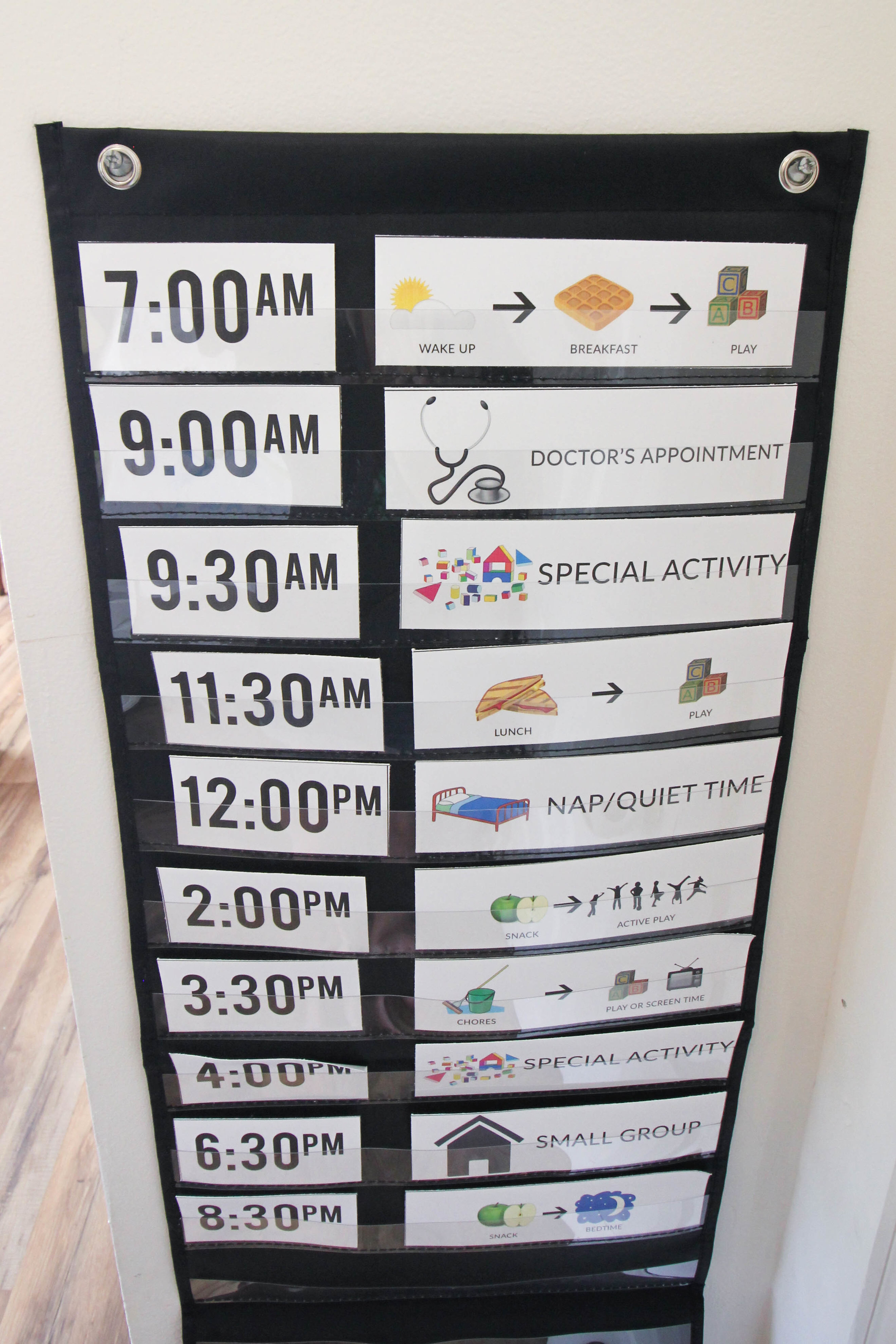 a fun #daily visual #routine to use with your #preschooler or #toddler