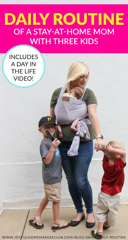 #daily #routine of a #sahm with three kids #stayathomemom #momlife #schedule