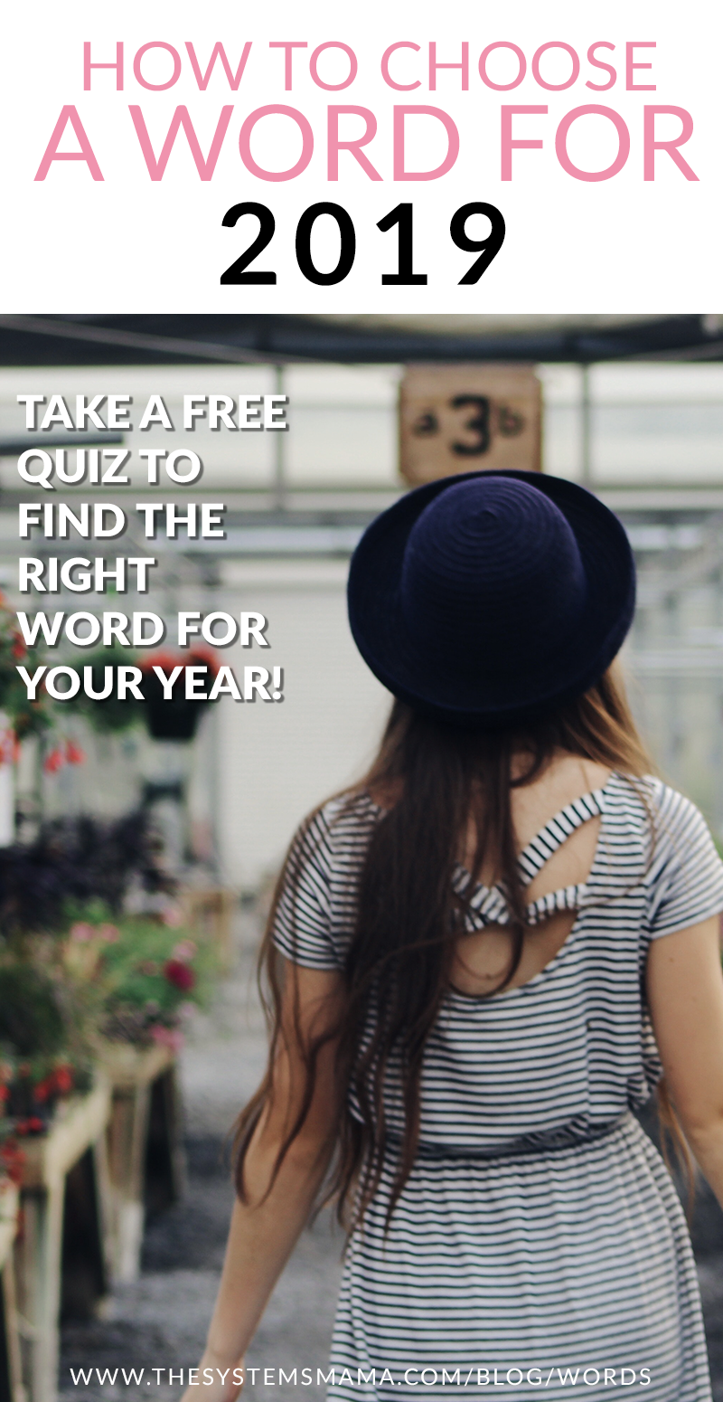 Get #intentional by choosing a #word for the year to build your #goals around. A must-do for all #mamas. Includes a #quiz to help you find a word AND a list of more than 100 word ideas.