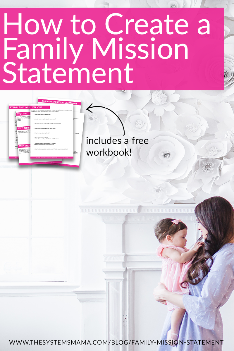 How to create a family mission statement #intentionalliving #missionstatement #familylife #momlife #homemaking  www.thesystemsmama.com/blog/family-mission-statement