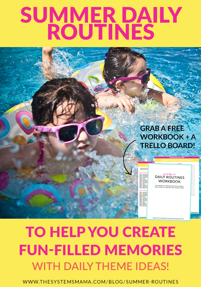 Routines in summer? Yes, mama! Learn how to create daily routines (schedules) to keep your kids busy over the summer months. Perfect for kids of all ages from preschool to elementary school and beyond.