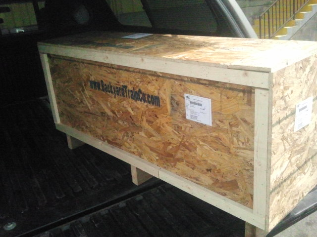 This is a typical custom train crate