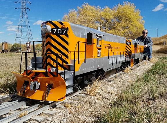 """1/8"""" scale GP7 diesel 7.5"""" gauge"""