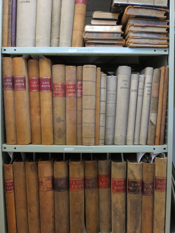 And by the way: the District Archive was recently given all the leather bound ledgers,minute books and logs of the power station, starting from day 1. Photo by Bruce Comfort.