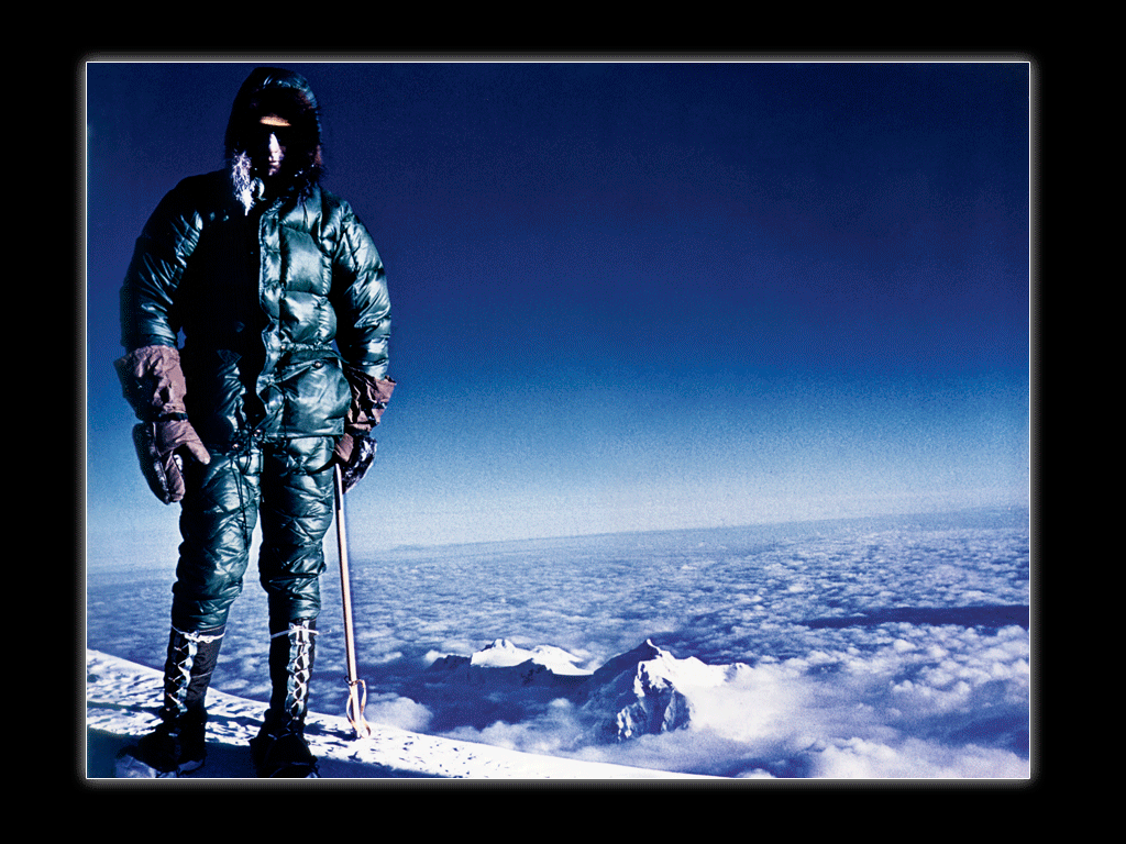 Jim on the summit of Mt. McKinley (Denali). John Day Photo