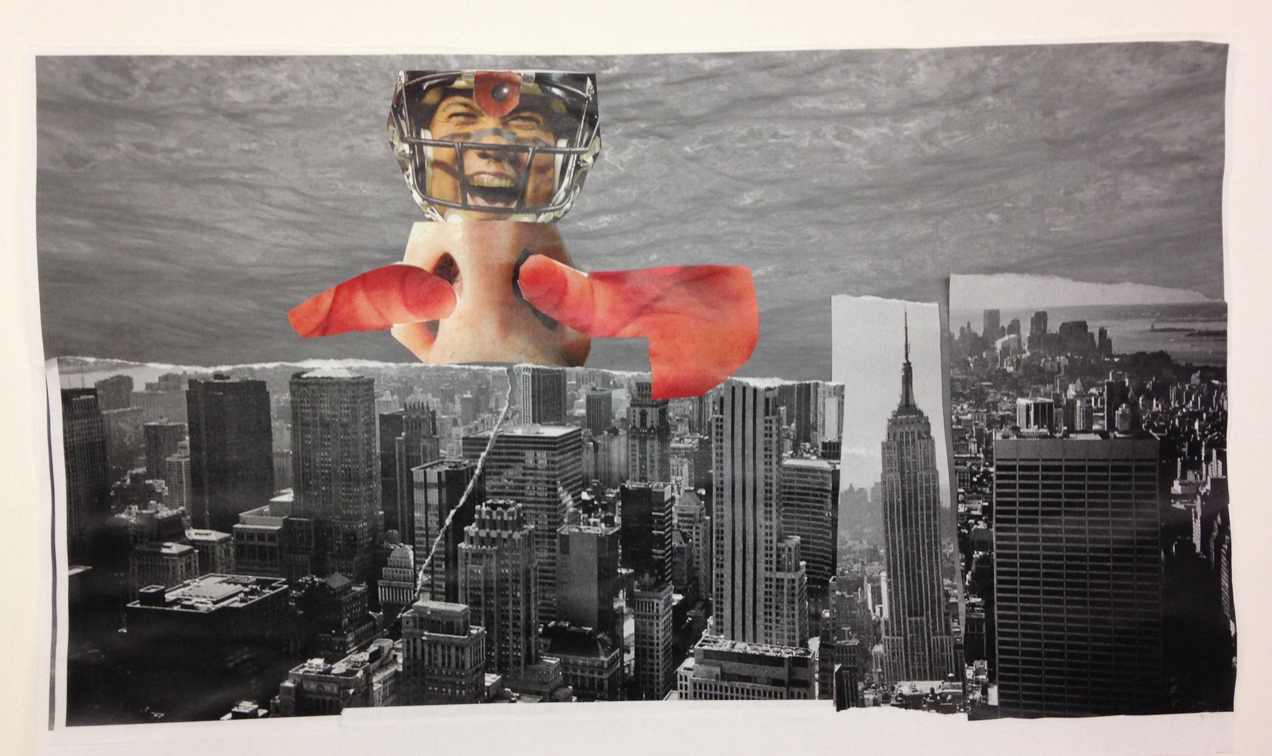 Sean | 3rd Grade Student Work | Collage, 11x20""
