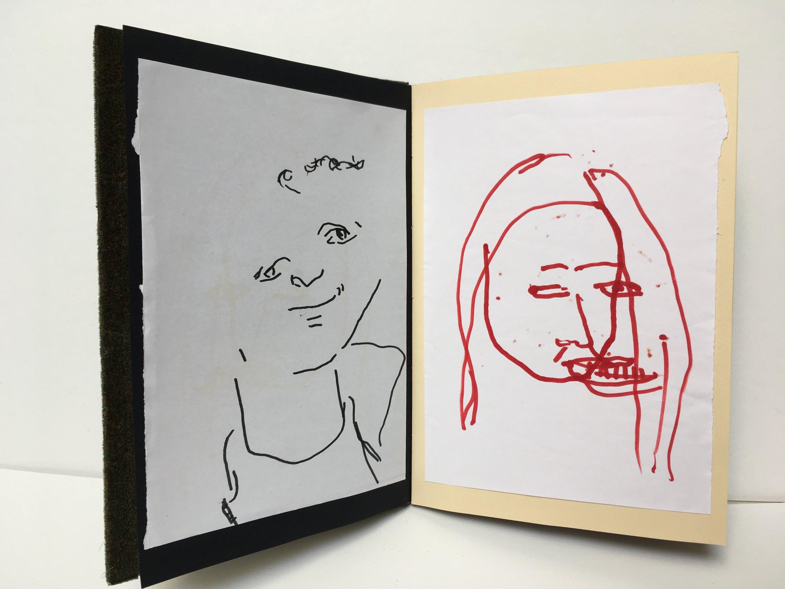 "Blind Contour Collection | Handmade Book | 10x8"""
