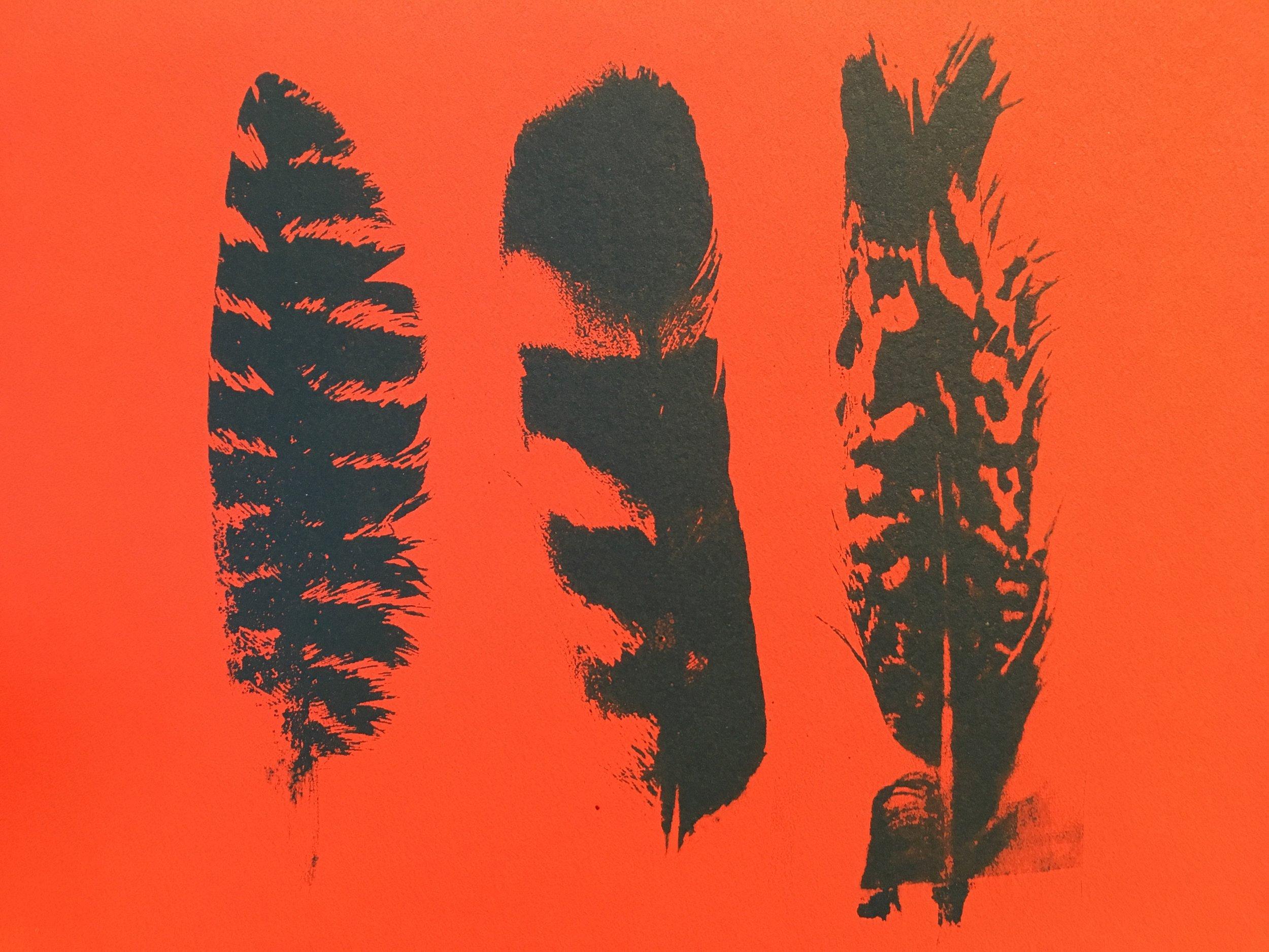 "Chosen Feathers | Screenprint, 5x7"""