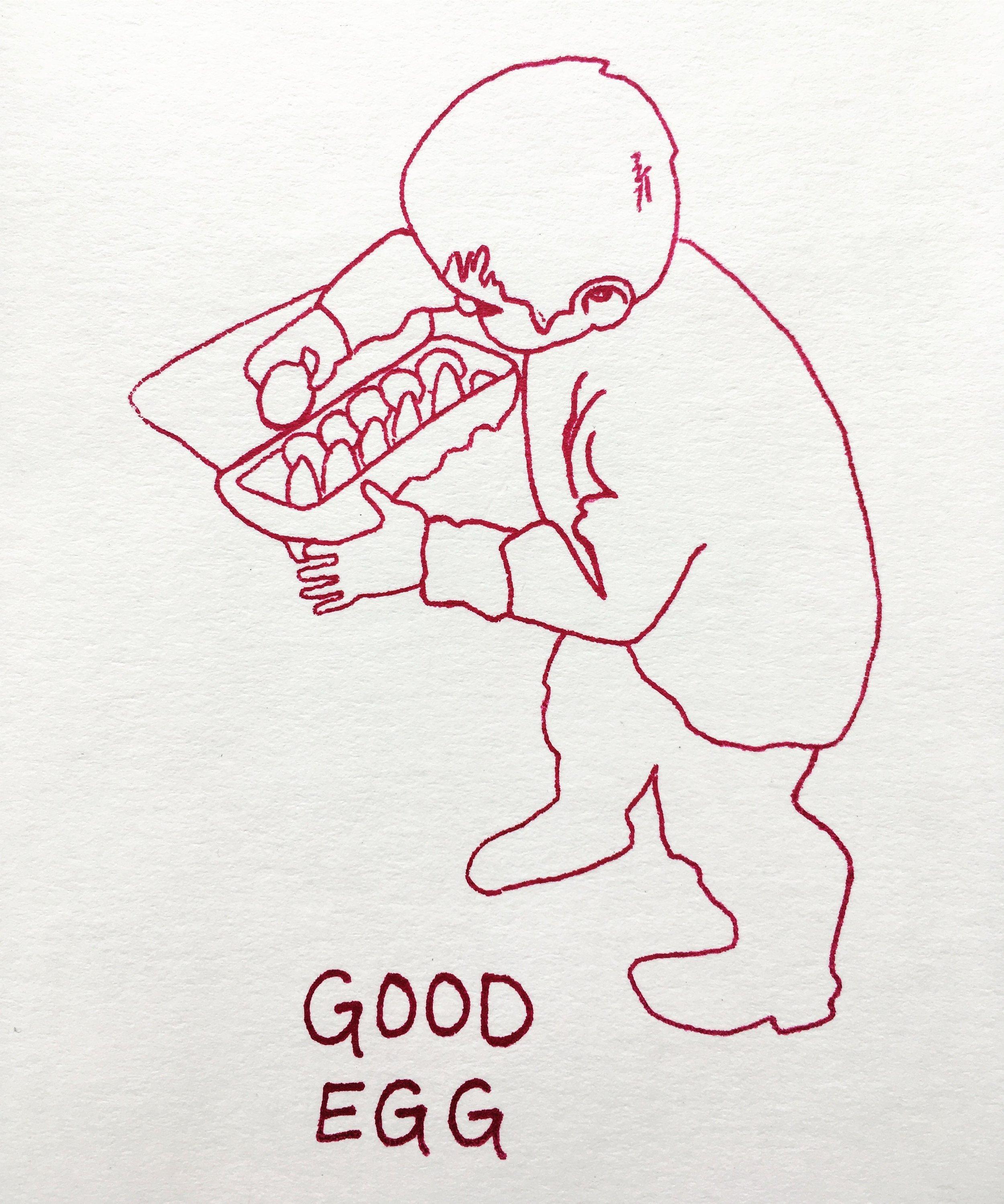 "Good Egg | Screenprint, 4x6"""