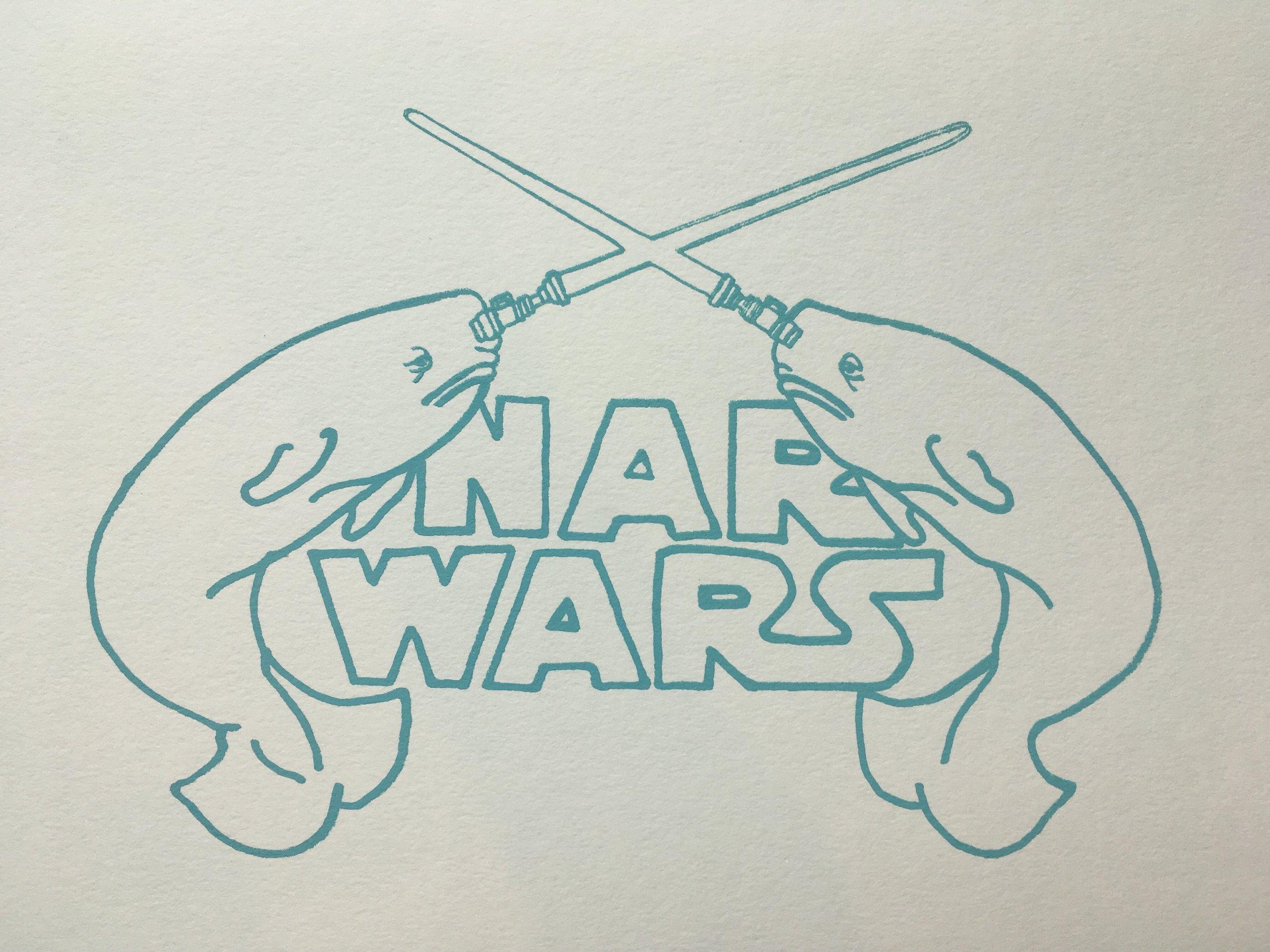 "Narwars | Screenprint, 5x7"""
