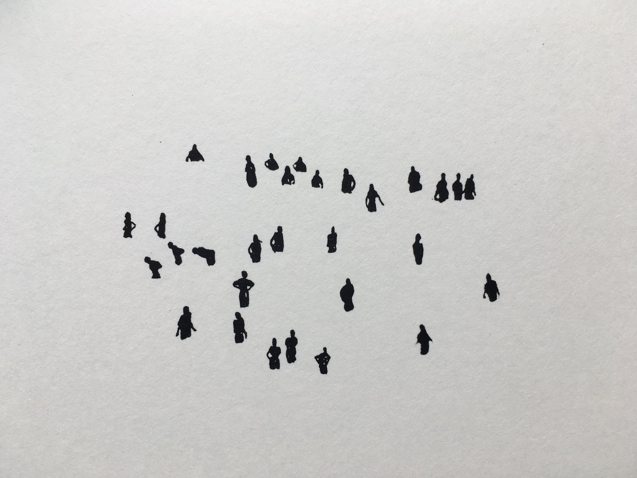 "Waders | Screenprint, 4x6"""