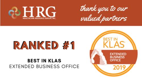 Wonderbaarlijk HRG Ranked #1 for Extended Business Office in 2019 Best in KLAS MN-44