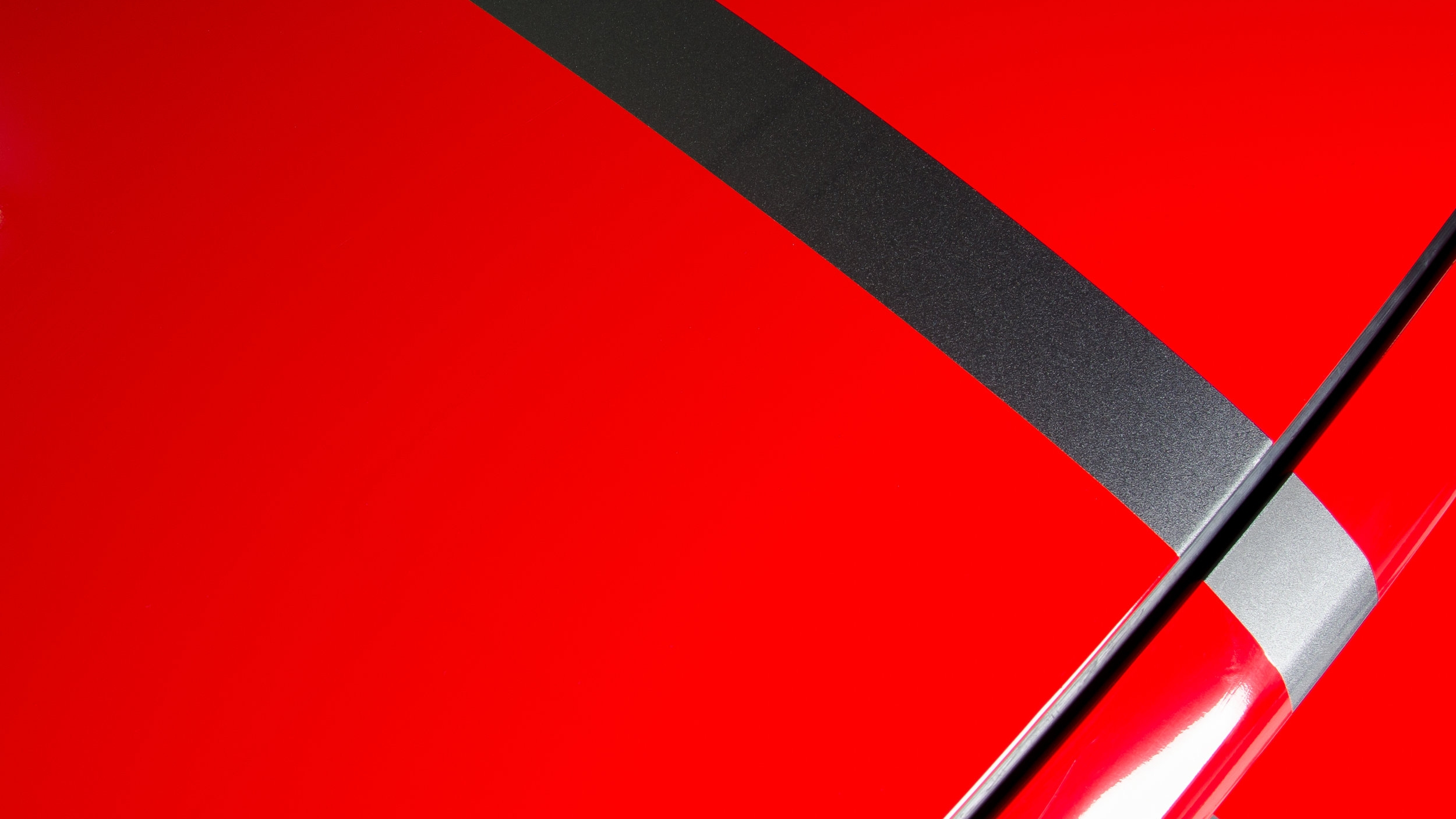 Avery SW900 Carmine Red Racing Stripes on a   2013 Ford Mustang
