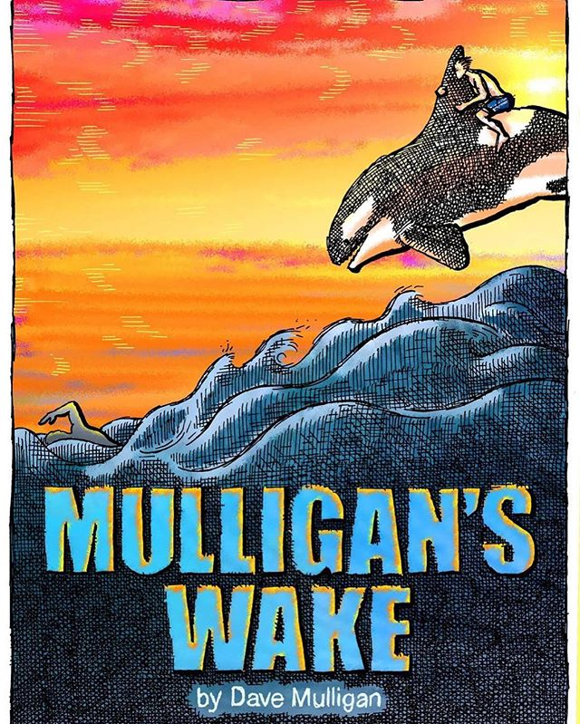 "We had our first author on the podcast today, Dave Mulligan! A local author who tells his stories of adventure and misadventure. His book is called ""Mulligans Wake"" and you can find it in bookstores today."