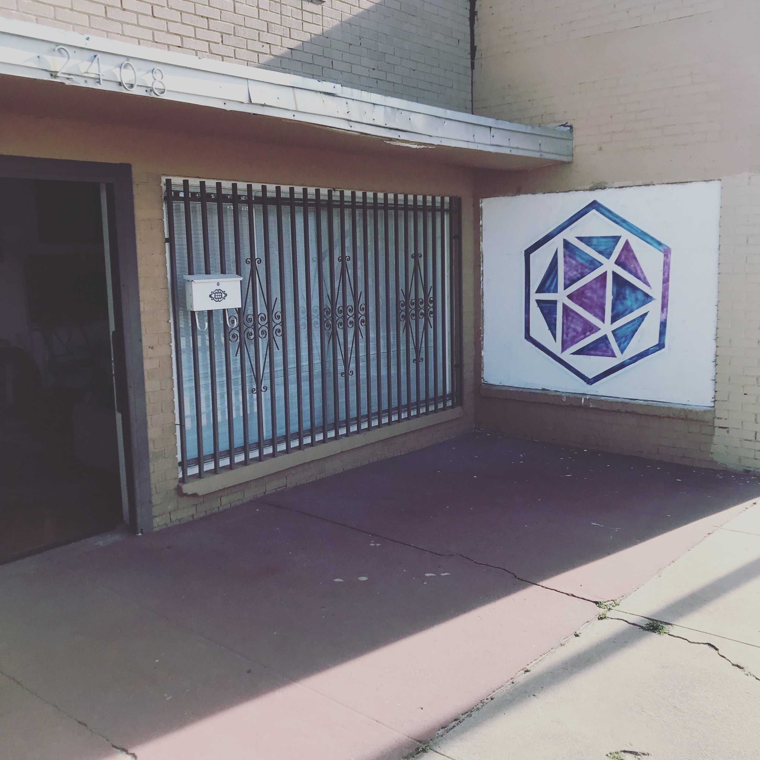 Main entrance to Ascension Artist Studio located at 2408 Texas Ave. El Paso, TX 79930