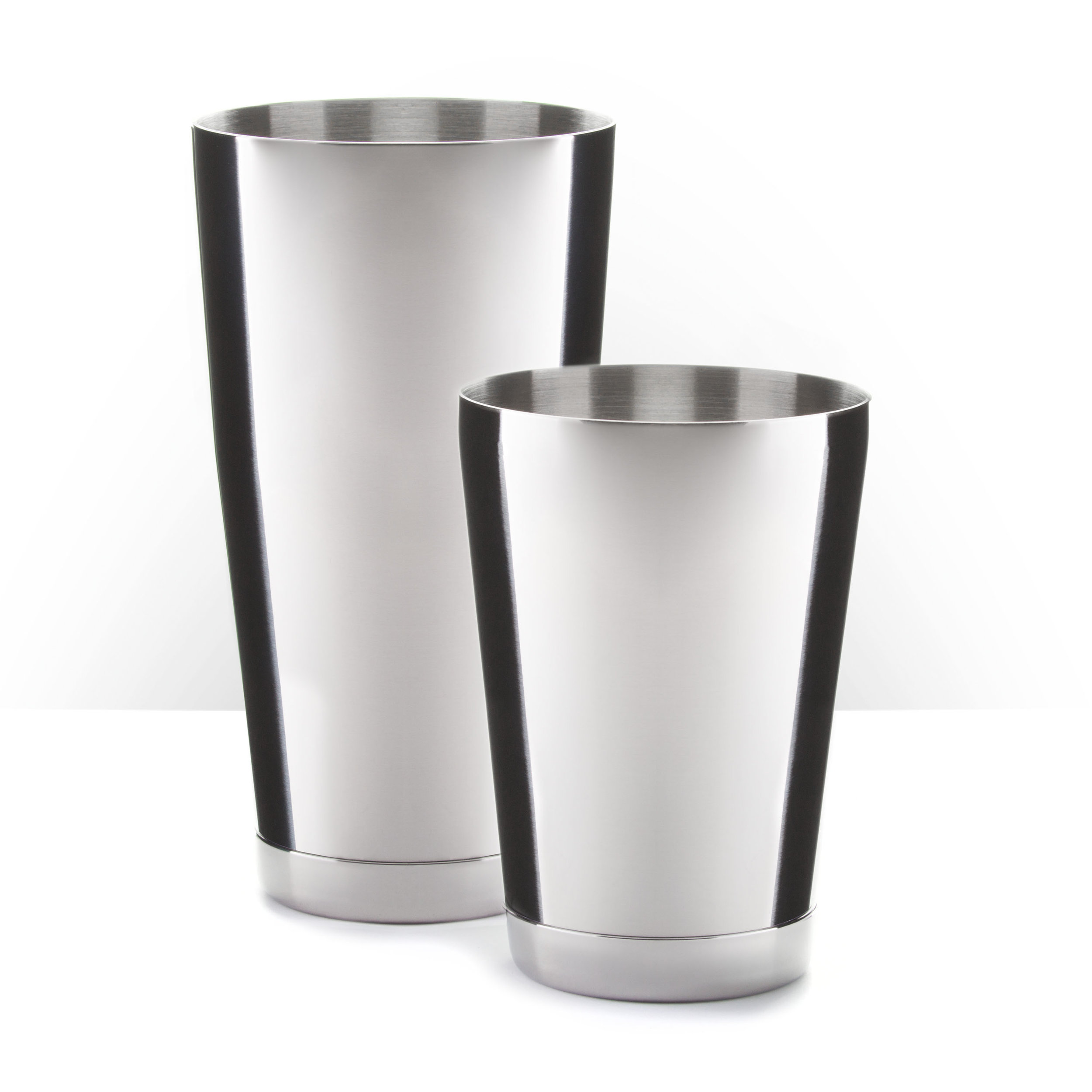 Founder's Tin Set - Polished Stainless Steel, 28oz. & 18oz