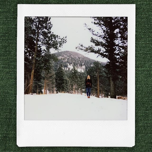 Rocky Mountain National Park - 12.28.18 The government shut down didn't stop us. The 9° weather eventually did though.  #instax #instaxSQ6 #instaxsquare #instantphotography #rmnp