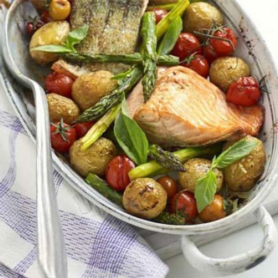 One-Pan Salmon With Roast Veg - Cook & Bakeware